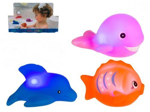 Badetiere Meerestiere LED Tiere Badespass Badewannenspiel leuchtende Tiere NEU