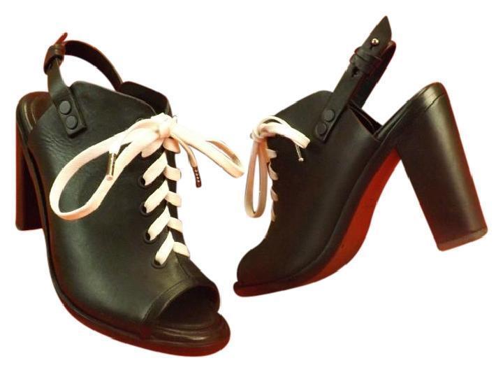 alto sconto RAG & BONE Trufford nero nero nero Leather Lace up Slingback peep toe avvioies pumps 8.5  articoli promozionali