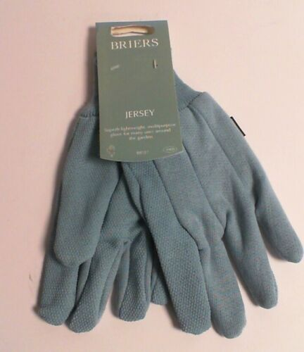 Briers Jersey Mini Grip Gardening Gloves B8727 #31E237 Medium Baby Blue