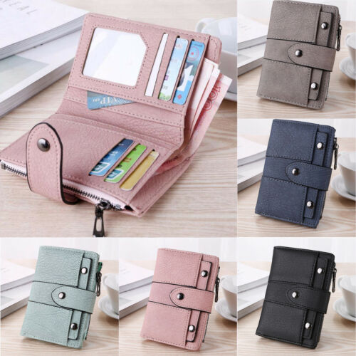 Short Small Wallet Money Purse Ladies PU Leather Folding Coin Card Holder Pocket