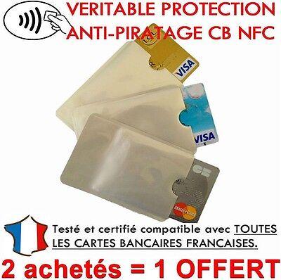 Etui protection pour Carte de crédit NFCRFID sans contact visa mastercard ..