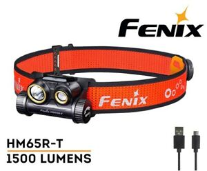 NO Battery New Fenix HM65R-T USB Charge 1500 Lumens LED Headlight Headlamp