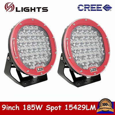 2X 8inch 320W CREE LED Round Work Light Spot Driving Head Light offroad 4x4 Jeep