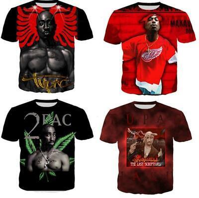 New Fashion Women//Men  Legends Rapper 2pac Tupac 3D Print Casual T-Shirt Y675