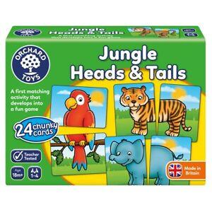 Orchard-Toys-058-Jungle-tetes-amp-Tails-Fun-Apprentissage-Enfants-Jeux-Ages-18-Mois