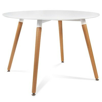 Mesa redonda MRE-100  color blanco McHaus cocina comedor salon madera