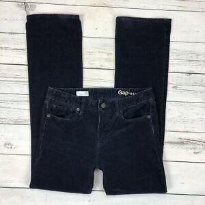 Gap-Perfect-Boot-Corduroy-Pants-Size-26-Short-Womens-Blue-Stretch-Bootcut