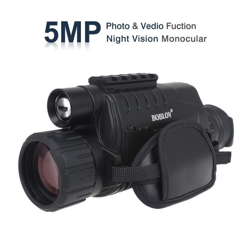 BOBLOV Night Vision Digital Monocular 5x40 Long Range DVR Record 8GB+2X Battery