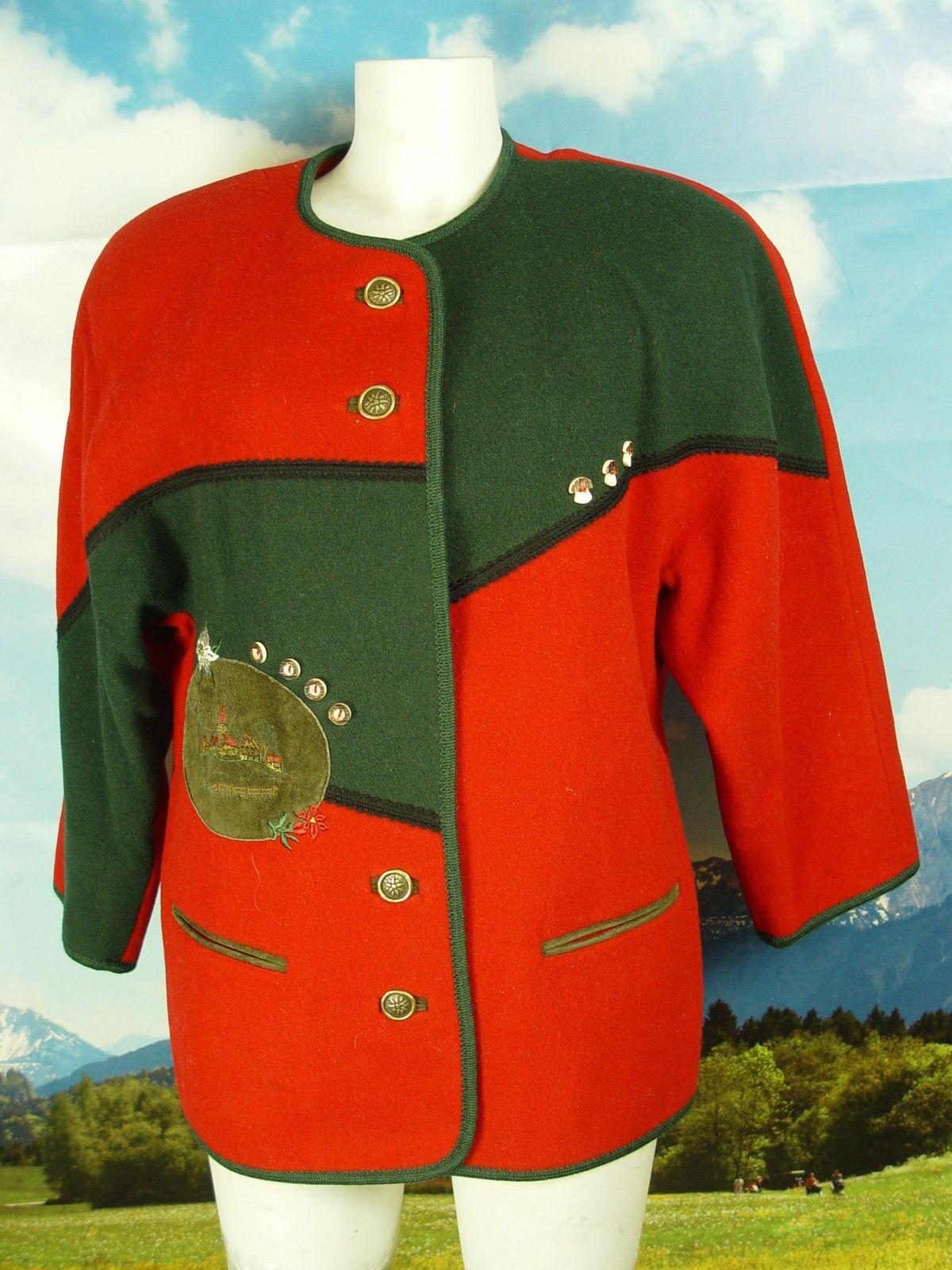 aus Salzburg mit kurzen Ärmeln wunderschöne Walkjacke Jacke Trachtenjacke Gr.40