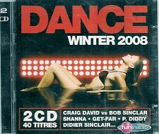 2 CD COMPIL 40 TITRES--DANCE WINTER 2008--SINCLAR/SHANNA/GET-FAR/P.DIDDY/JUSTICE