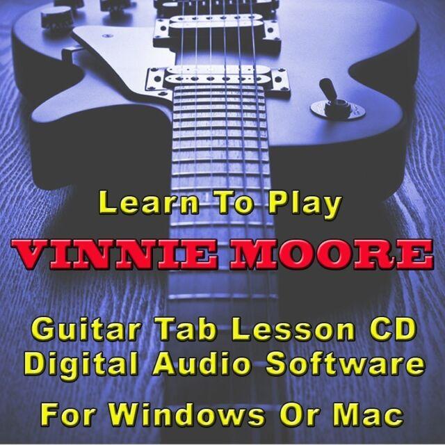 VINNIE MOORE Guitar Tab Lesson CD Software - 45 Songs