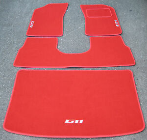Vloermat 205 Gti.Details About Luxury Red Car Mats To Fit Peugeot 205 White Gti Logos Boot Mat Saddle