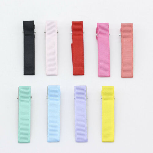 30p 50mm Double Prong Alligator Hair Clip for Kids Hair Bow Satin Ribbon Hairpin