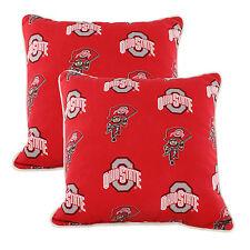 "Ohio State Buckeyes Outdoor Decorative Pillow Pair - (2) 16"" x 16"" Pillows"
