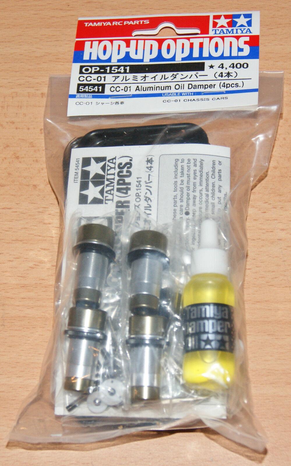 Amortiguador de aceite de aluminio Tamiya 54541 CC-01 (4 Piezas.) (CC01 Jeep XC Pajero), nuevo en paquete