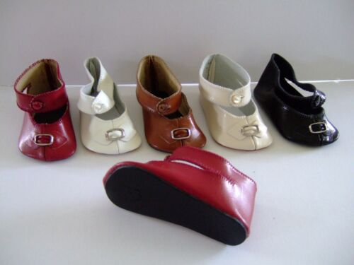 G.BRAVOT 9.7 cm Leather shoes Size 14 for old or modern doll Doll shoes