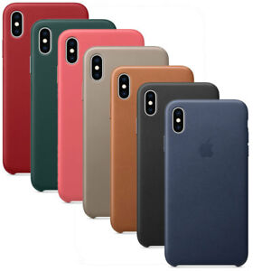 Custodia-protettiva-cover-vera-pelle-Leather-Case-ORIGINALE-Apple-iPhone-XS-Max