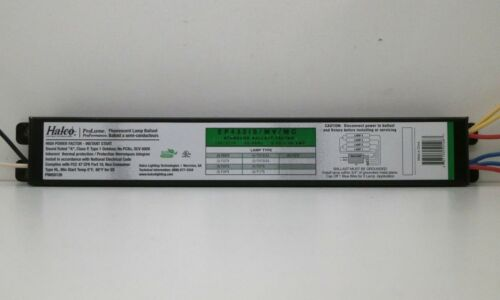 4 F32T8 Lamps 6-Pack Halco EP432IS//MV//MC Fluorescent 120//277V Ballast for
