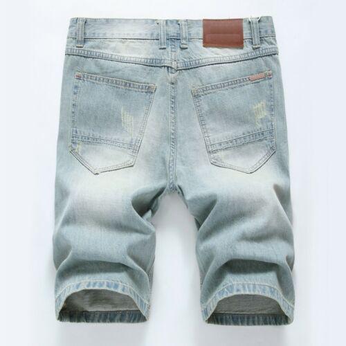 Men jean shorts Denim pants Short pant Frayed Jeans Destroyed shorts short jeans