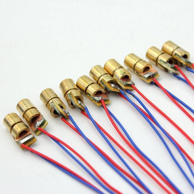 1Pcs 650nm 6mm 5V 5mW mini Laser Dot Diode Module Copper Head WL Red-Dot