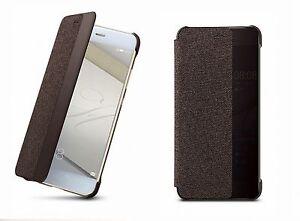 Original-Huawei-P10-Plus-5-5-034-Smart-Flip-Cover-Case-Tasche-Schutzhuelle-braun