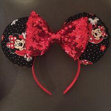 DisneyWorld-Mickey Mouse Ears Headband Halloween-New-Handmade--Costume-Minnie