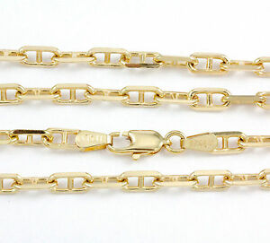 16-24-034-3-7mm-10k-Yellow-Anchor-Link-Chain-NEW-solid-Italian-necklace-2305