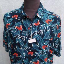 RAFFLESIEN Designer 100/% Baumwolle Handgefertigt Batik Top Hawaii Hemd Herren