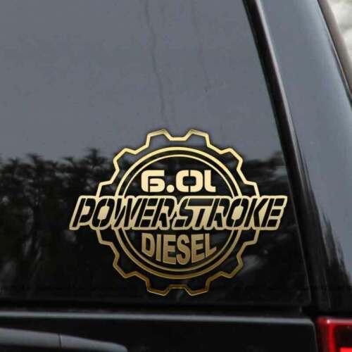 Powerstroke 6.0L Diesel Truck Decal Sticker Ford Turbo F250 F350 Window Laptop