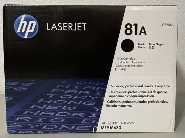 NEW Genuine HP 81A (CF281A) Black Toner Print Cartridge  - FACTORY SEALED BOX