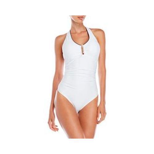 New  110 110 110 Jones New York White Halter Swimsuit Size 10 960ce3