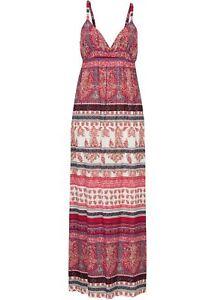 Maxikleid Gr. 46 Rot Damen-Kleid Sommerkleid Freizeitkleid ...
