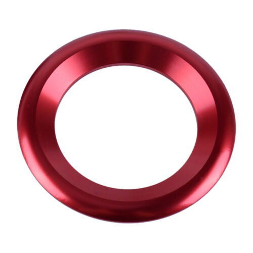 2pc Car Red Front Door Stereo Speaker Trim Cover Ring Fit For Honda Civic 16-19