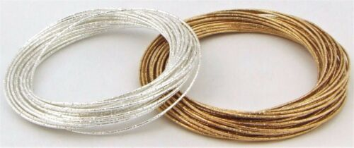 Silver /& Gold Tone Multi Band Glitzy Xmas Fashion Hen Party Bangle Bracelet