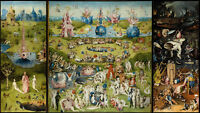 """The Garden Of Earthly Delights HIERONYMUS BOSCH ART poster 43"""" x 24"""" Decor 02"""