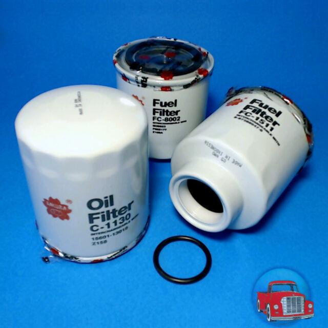 FLK4518 Oil Fuel Filter Kit Holden RA Rodeo Isuzu 3.0L 4JH1 Turbo Diesel Engine