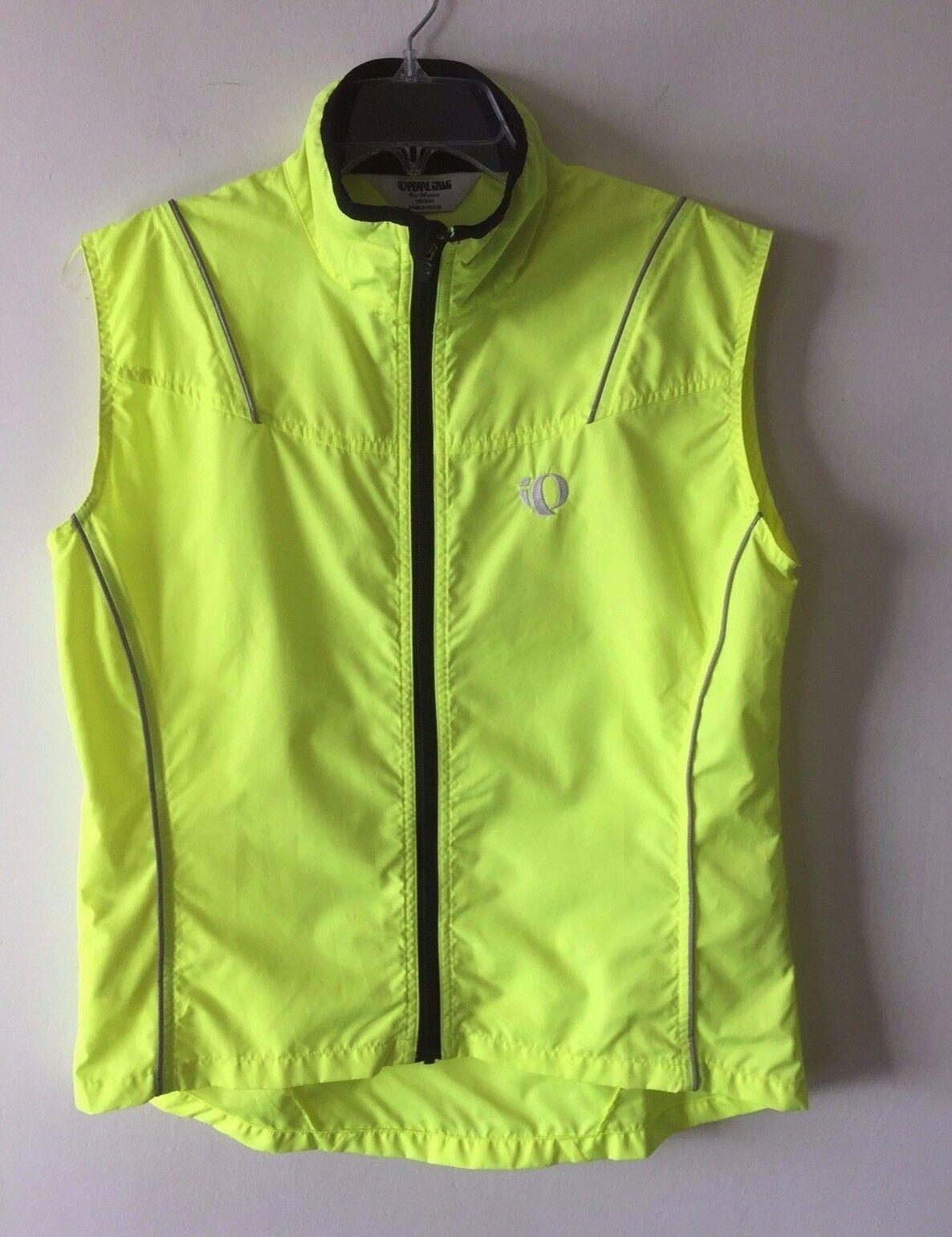 Pearl Izumi Elite Cycling Vest Mesh Zippered Screaming Yellow Women's M NWOT