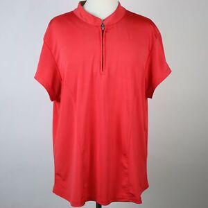 JAMIE-SADOCK-Red-Quick-Dry-Zip-Neck-Golf-Top-XL