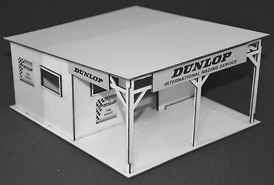1:32 Scale Vintage Dunlop Tyre Stall For Scalextric/other Static Layouts Shrink-Proof