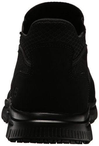 77106 Skechers Work Mens Flex Advantage Shoes Lilburne Slip Resistant Shoes Advantage Black c88d43