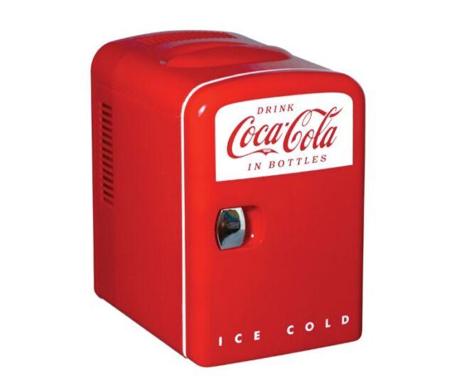 Coca Cola Retro Personal Mini Fridge Thermoelectric Cooler - In box
