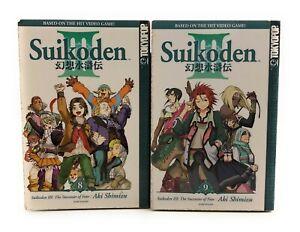 Suikoden-III-Vols-8-amp-9-Fantasy-Manga-Graphic-Novel-anime-English-Teen