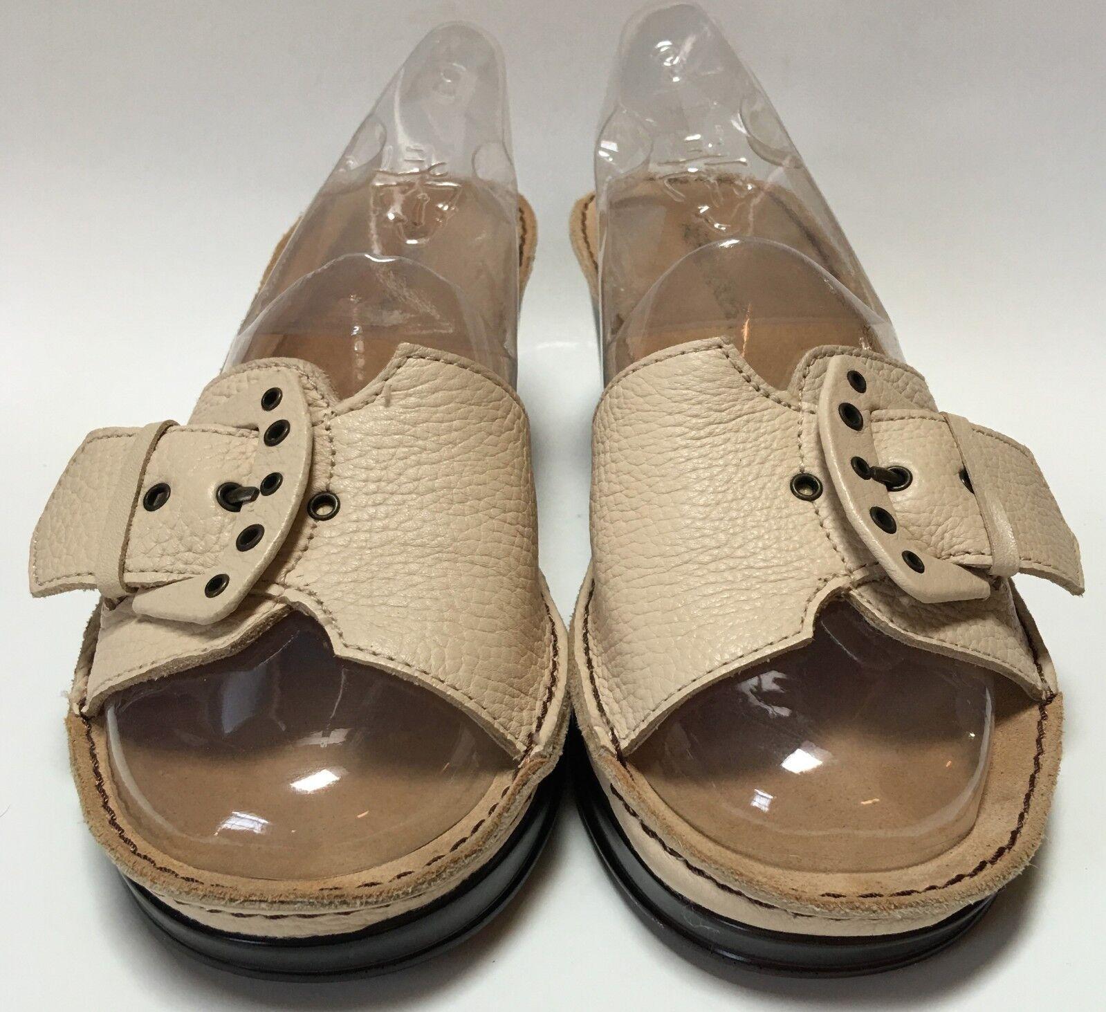 Aerosoles DREAD STOCK Beige Buckle Sandal Front Slides Wedge Heel Sandal Buckle Size 9 ½ M 2b5285