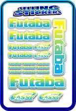 FUTABA SERVO RADIO RX TX 2.4G FLIGHT REMOTE CONTROL STICKERS FASST BLUE YELLOW W