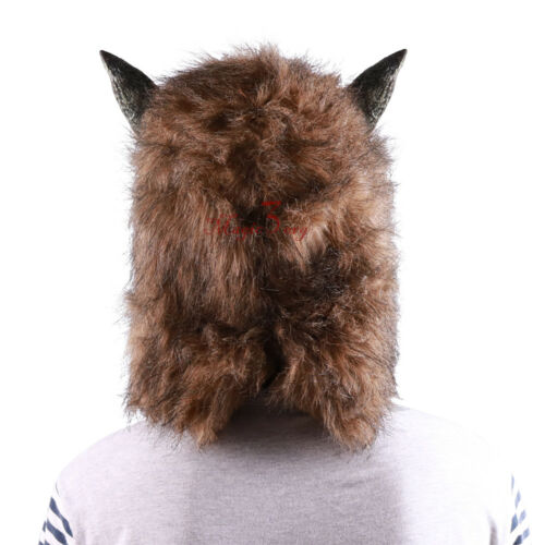 Halloween Wolf Head Mask Animal Cosplay Party Werewolf Costume Fancy Dress Prop