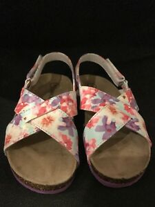 1e2c9e9a938f NWOT CHEROKEE FLORAL GIRL S FOOTBED Sandals Children s Shoes Size 9 ...