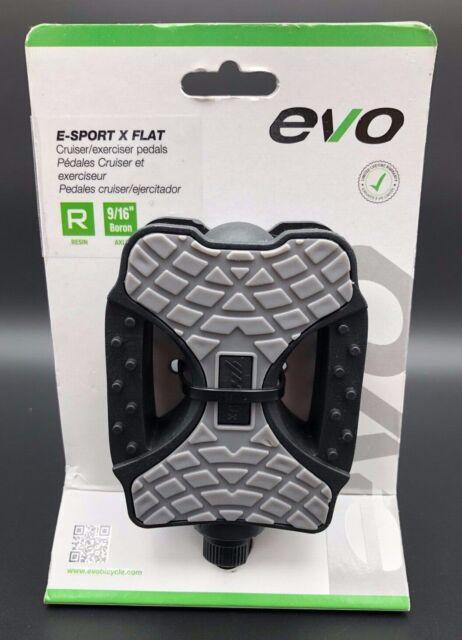 EVO E-Sport Kid Pedals Steel axle 1//2/'/' Black 240g