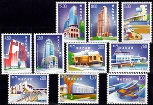Macau-Macao-1998-99-Definitives-Stamp-set-MNH