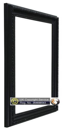 Noir cadre photo photo affiche cadre shabby chic plastique polcor A1 A2 cadre A3