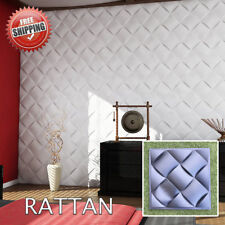 Wall Panels Mold *RATTAN* 3D Decorative Stone Plastic Form for Plaster Gypsym